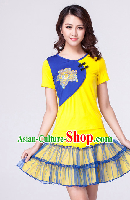 Yellow Chinese Style Parade  Costume Ideas Dancewear Supply Dance Wear Dance Clothes Suit