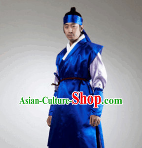 Ancient Korean Swordsman Costumes and Head Band for Men
