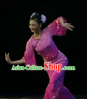 China Folk Dancewear and Hair Accessories Complete Set for Girls