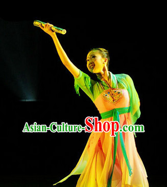 Chinese Folk Ancient Dance Costume Complete Set for Women