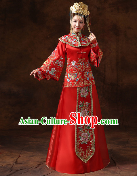 Red Phoenix Classical Chinese Wedding Suits for Women
