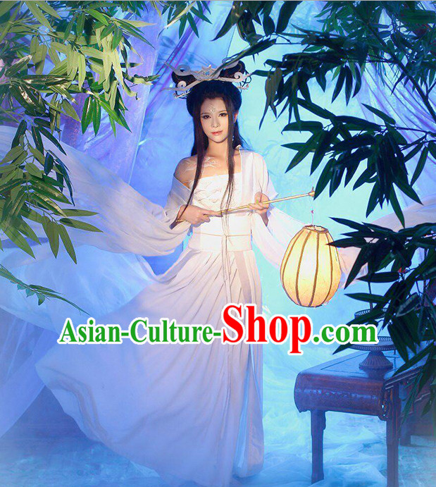 Xiao Qian Ghost Fairy Costume and Hair Accessories Complete Set