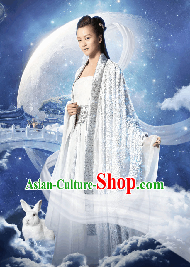 Ancient Chinese Fairytale Chang Er Costume Complete Set for Women