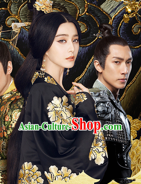 Tang Dynasty Yang Yuhuan Palace Empress Costume and Hair Accessories Complete Set