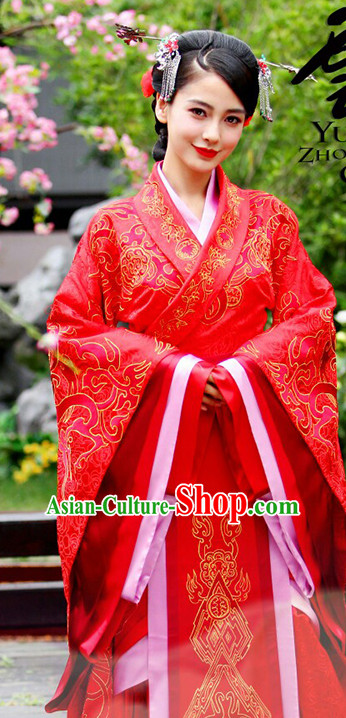 China Classicial Red Wedding Dress Complete Set for Women