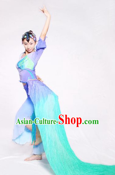 Chinese Classic Fan Dance Costume