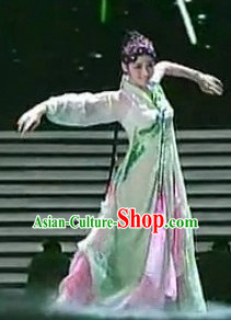 Chinese Traditionial Fan Dancing Costume for Women