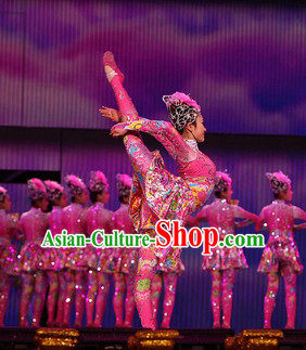 Chinese Stage Performance Dancing Costume and Head Wear for Women
