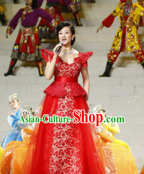 Chinese Folk Singer Dancing Uniform