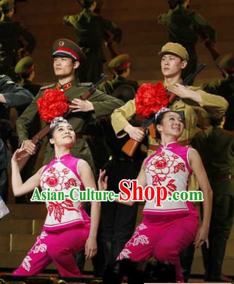 Chinese Red Army Dance Costume for Women