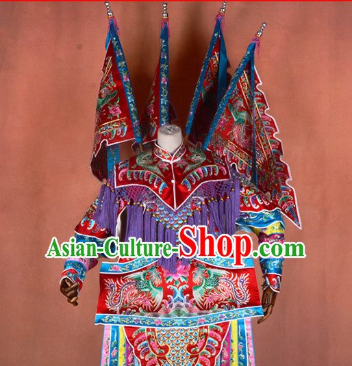 Ancient Chinese Beijing Opera Costumes Peking Opera General Armor Costume Complete Set for Women