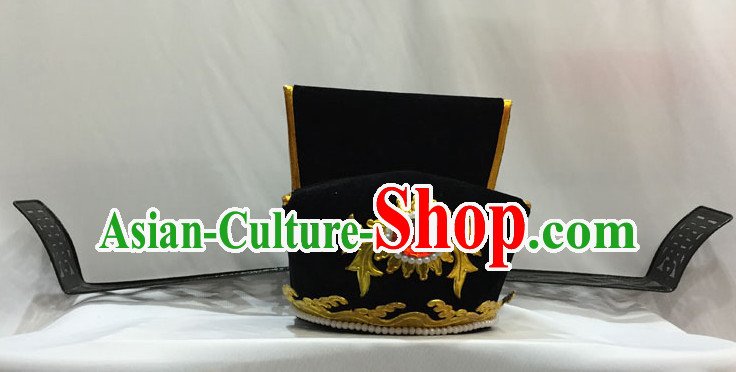 Ancient Chinese Opera Black Official Hat