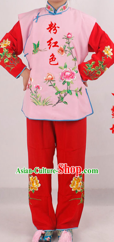 Chinese Traditional Opera Embroidered Flower Lady Costumes