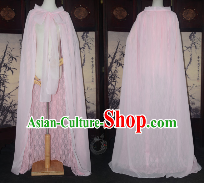 Pink Traditional Chinese Classical Mantle Cape