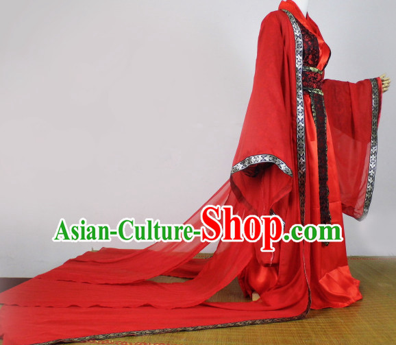 Red Traditional Chinese Classical Red Clothing Complete Set