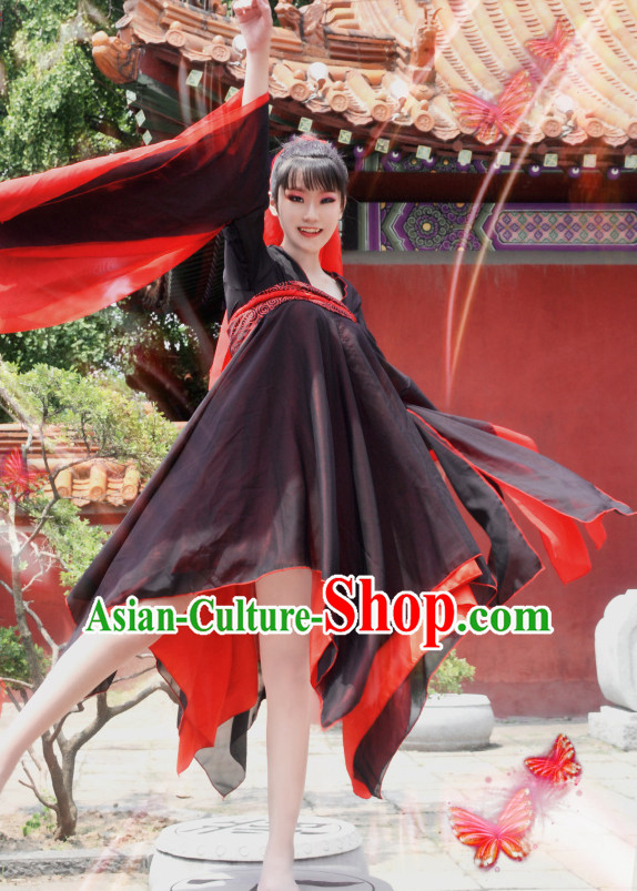 Ancient Chinese Classical Dance Costumes Complete Set for Women or Girls