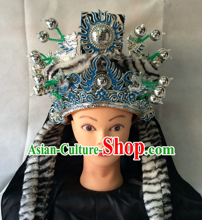 Traditional Chinese Classical Opera Ethnic General Hat for Men