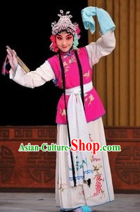 Ancient Chinese Opera Embroidered Costume Complete Set for Women or Girls