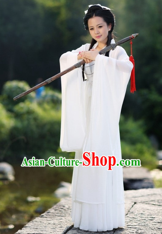 Chinese Classical White Dance Costume for Women or Girls