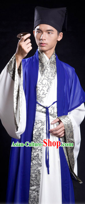 Han Chinese Costume and Hat for Men