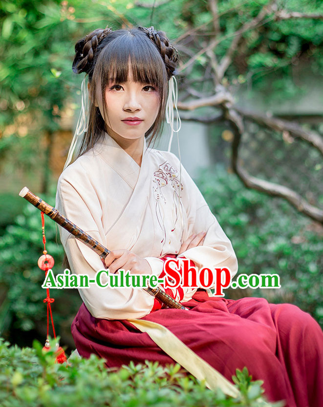 Chinese Knight Style Dresses Hanfu Clothing for Sale