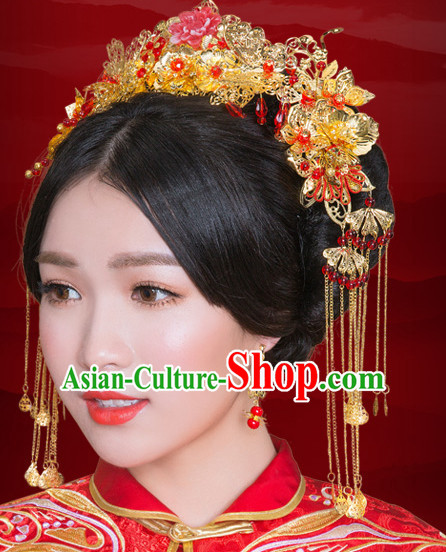 Traditional Chinese Style Wedding Crowns