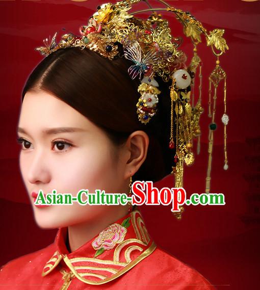 Traditional Chinese Brides Wedding Hair Jewelry Headpieces