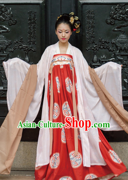 Chinese Tang Dynasty Princess Clothing Hanfu Costume Han Fu Clothing for Sale