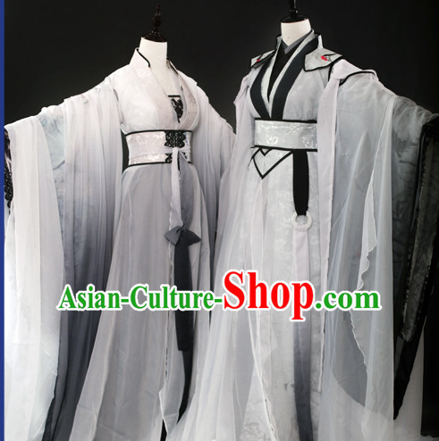 Ancient Chinese Fairy Costumes 2 Complete Sets for Men and Women