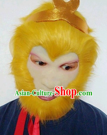 Ancient Chinese Monkey King Fur Mask Sun Wukong Masks