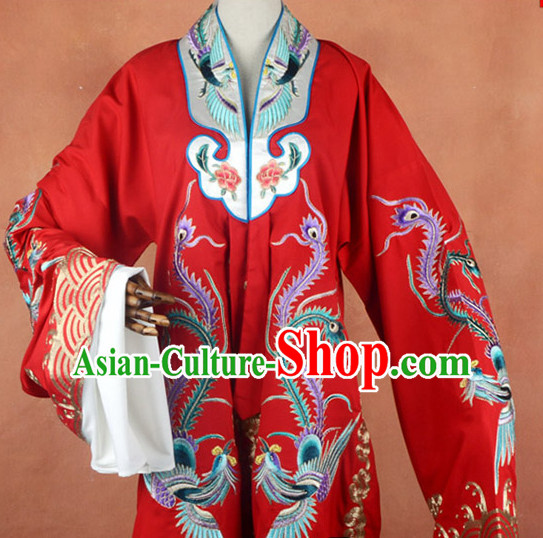 Top Embroidered Chinese Classic Peking Opera Female Costume Beijing Opera Long Phoenix Robe Costumes Complete Set for Adults Kids Women Girls