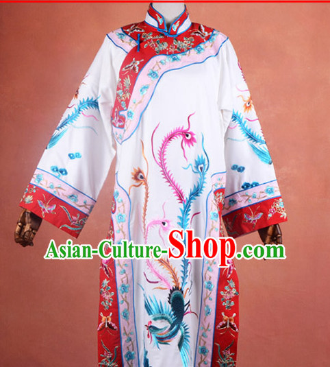 Top Embroidered Chinese Classic Peking Opera Phoenix Costume Beijing Opera Empress Robe Costumes Complete Set for Adults Kids Women Girls
