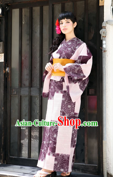 Top Authentic Traditional Japanese Kimonos Kimono Dress Yukata Clothing Robe online Complete Set for Women