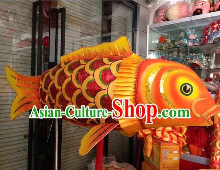 Chinese New Year Festival Celebration Super Big LED Lights Holding Fish Carp Parade Props