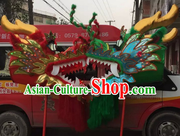 LED Lights Chinese Spring Festival Big Display or Play Handmade Dragon Head
