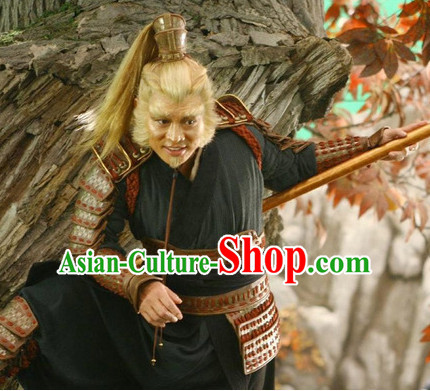Chinese Monkey King General Body Armor Costumes Complete Set for Men and Boys