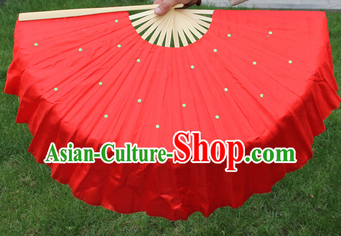 Traditional Chinese Red Dance Fan