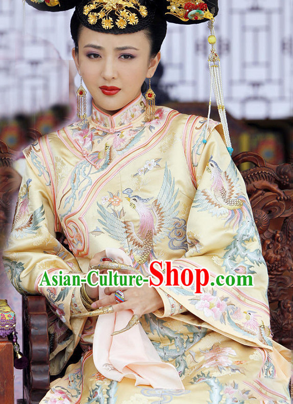 Qing Dynasty Chinese Empress Royal Dresses Imperial Robe Clothes