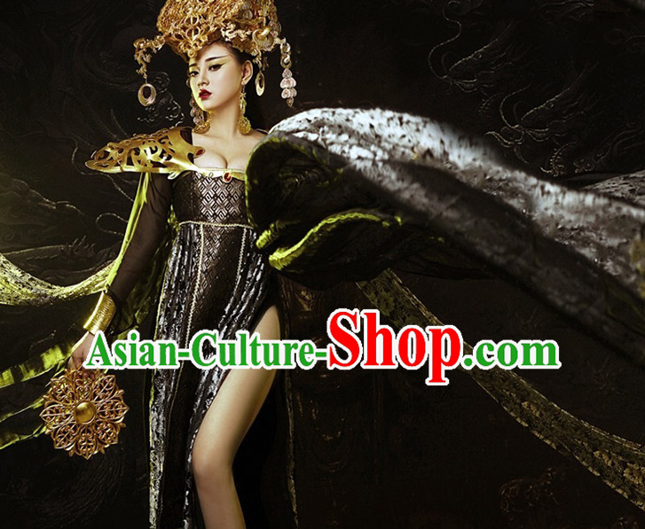 Asian Style Empress Sexy Dresses Imperial Robe Clothes