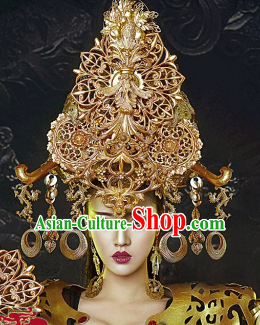 Ancient Chinese Empress Crown Imperial Hat