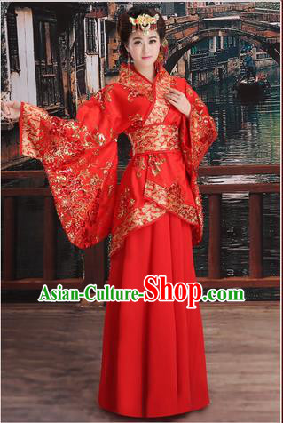 Ancient Chinese Palace Empress Costumes Complete Set, Han Dynasty, Ancient Palace Princess, Hanfu, Wedding Dress Suits For Women