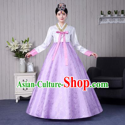 Korean Women Costumes Traditional Clothes Wedding Full Dress Formal Attire Ceremonial Clothes Court Stage Dancing