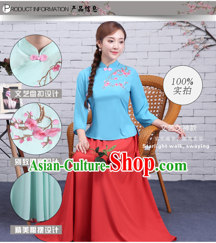 Chinese Traditional Clothes Min Guo Time Female Clothing Nobel Lady Stage costumes Ladies