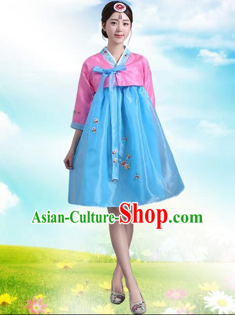 Korean Traditional Dress Women Costumes Bride Dress Clothes Korean Full Dress Formal Attire Ceremonial Dress Court Stage Dancing