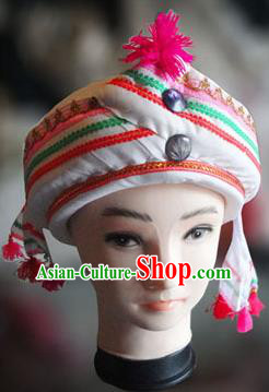 Chinese Traditional Miao Minority Hmong Folk Ethnic Hat, Tujia Minority Hat for Men