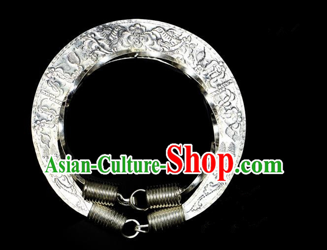 Traditional Chinese Miao Nationality Necklace, Hmong Folk Wedding Collar, Chinese Minority Nationality Jewelry Accessories for Women