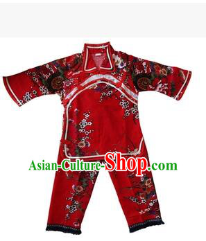 Chinese Style Dress Little Girl Kids Show Dancing Costume Stage Clothes Red