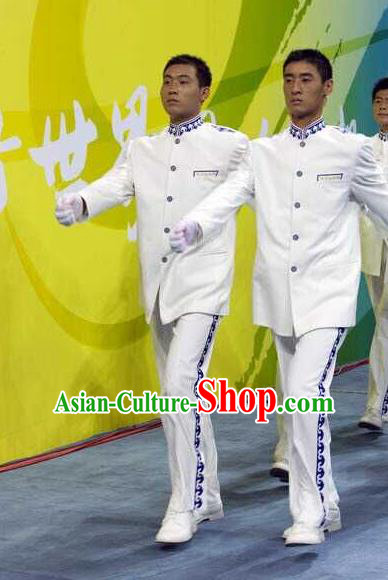 Chinese Athletic Meeting Costume, China Sports Meet Opening Dance Costume for Women