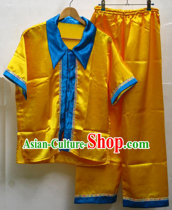 Traditional Asian Thai Male Costume Set, Thai Clothes and Trousers for Men