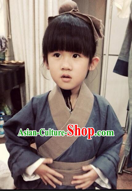 Han Fu for Kids Stage Show Costume Chinese Traditional Dress Clothes